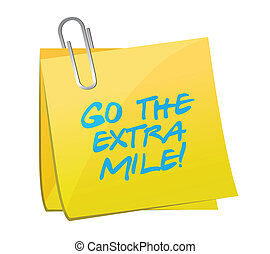 go the extra mile post illustration design
