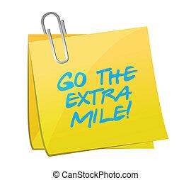 go the extra mile post illustration design