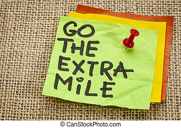 go the extra mile reminder