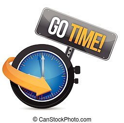 go time watch sign illustration design