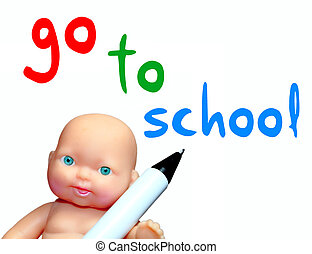 Go to school message