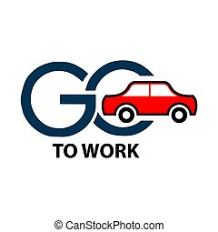 Go to work stock icons. Colorful icon. label. vector