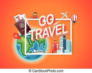 Go travel. Vector illustration