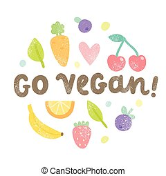 Go vegan art.