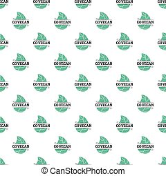 Go vegan seamless pattern
