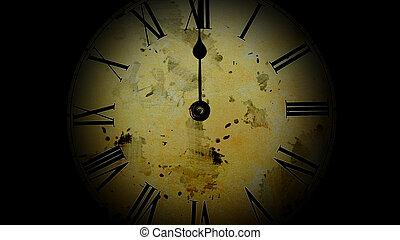 go., vieux, défaillance, montre, clock., rapidement, watch., temps