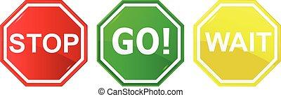 Go, wait, and stop control / traffic signs,