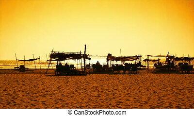Goa beach at sunset