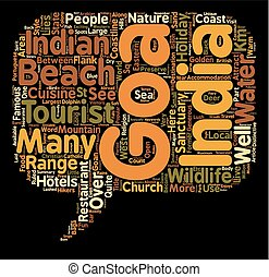 Goa Holidays text background wordcloud concept