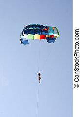 goa, paar, indien, paraglider, wasser- sport