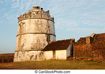 Goa - The lighthouse at Fort Aguada, Goa, India