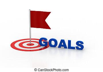 Goal achievement concept