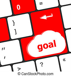 Goal button on computer keyboard - business concept