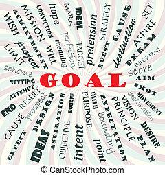 goal - illustration of goal concept