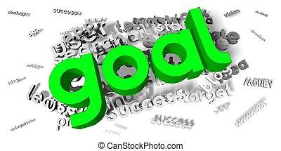 Goal concept - 3D illustration