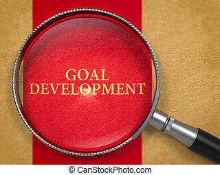 Goal Development Concept through Magnifier.