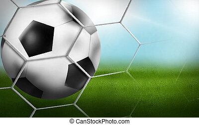 Goal - Football Background Ball 3D Design