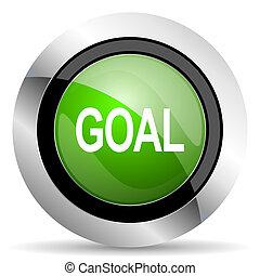 goal icon, green button