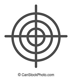 Goal line icon. Aim vector illustration isolated on white. Target outline style design, designed for web and app. Eps 10.