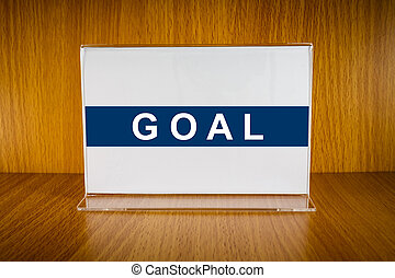 Goal on Acrylic card holder