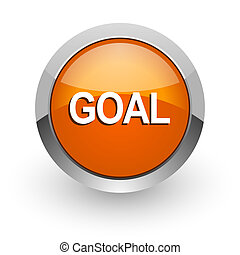 goal orange glossy web icon