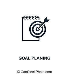 Goal Planning icon. Creative element design from business strategy icons collection. Pixel perfect Goal Planning icon for web design, apps, software, print usage
