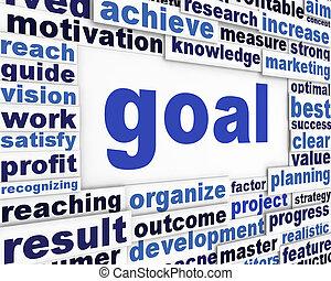 Goal poster design