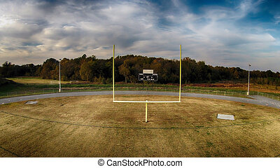 Goal Posts - football goal at a local high school