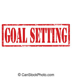 Goal Setting-stamp - Grunge rubber stamp with text Goal...