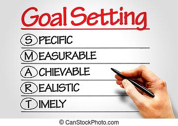 Goal Setting - SMART Goal Setting business concept