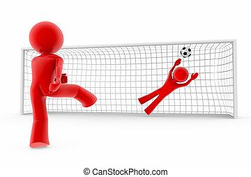 Goal; soccer players