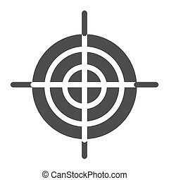Goal solid icon. Aim vector illustration isolated on white. Target glyph style design, designed for web and app. Eps 10.
