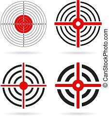 Goal target vector icon