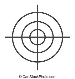 Goal thin line icon. Aim vector illustration isolated on white. Target outline style design, designed for web and app. Eps 10.