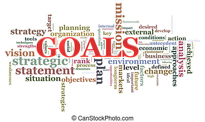 Illustration of wordcloud related to word goals