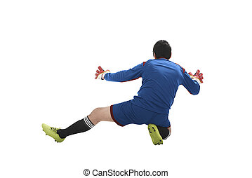 Goalkeeper catch ball