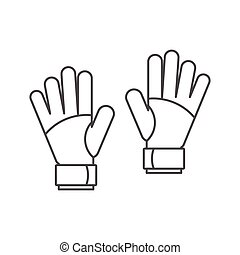 Goalkeeper gloves icon, outline style