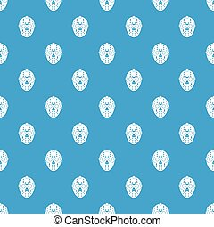 Goalkeeper mask pattern seamless blue