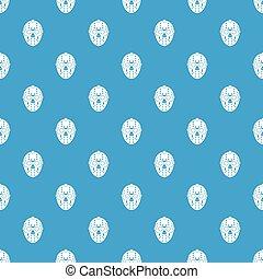 Goalkeeper mask pattern seamless blue