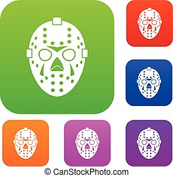 Goalkeeper mask set collection