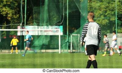 Goalkeeper watch the game