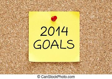 Goals 2014 Sticky Note