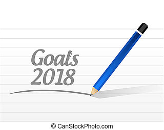 goals 2018 message sign illustration design
