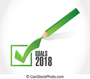 goals 2018 sign check mark design