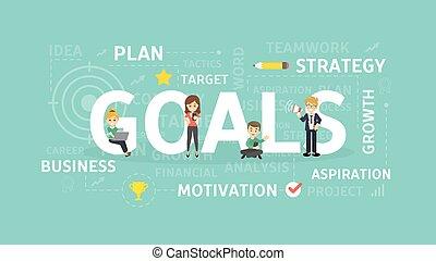 Goals concept illustration.