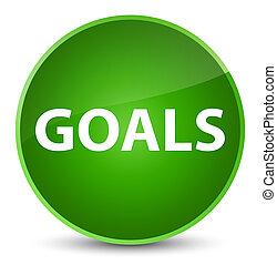 Goals elegant green round button