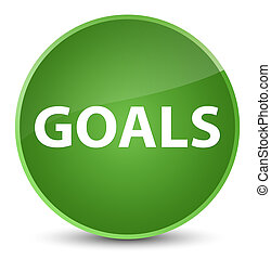 Goals elegant soft green round button