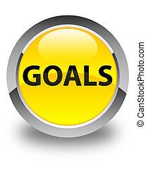 Goals glossy yellow round button