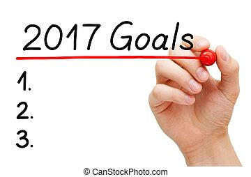 Goals List Year 2017