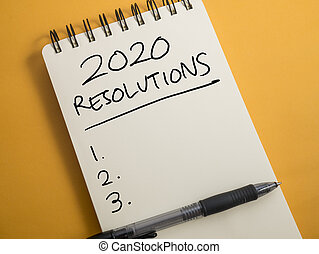 2020, goals plans in life, business, relation, and preparing for new year 2020 resolutions